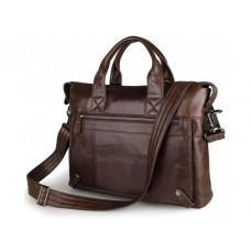 Кожаная сумка для ноутбука JASPER & MAINE 7120C-1 коричневая
