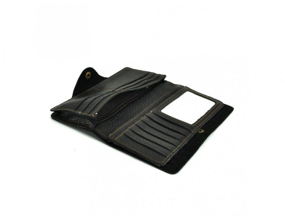 Кожаный портмоне TIDING BAG 8032A Чёрный - Фото № 2