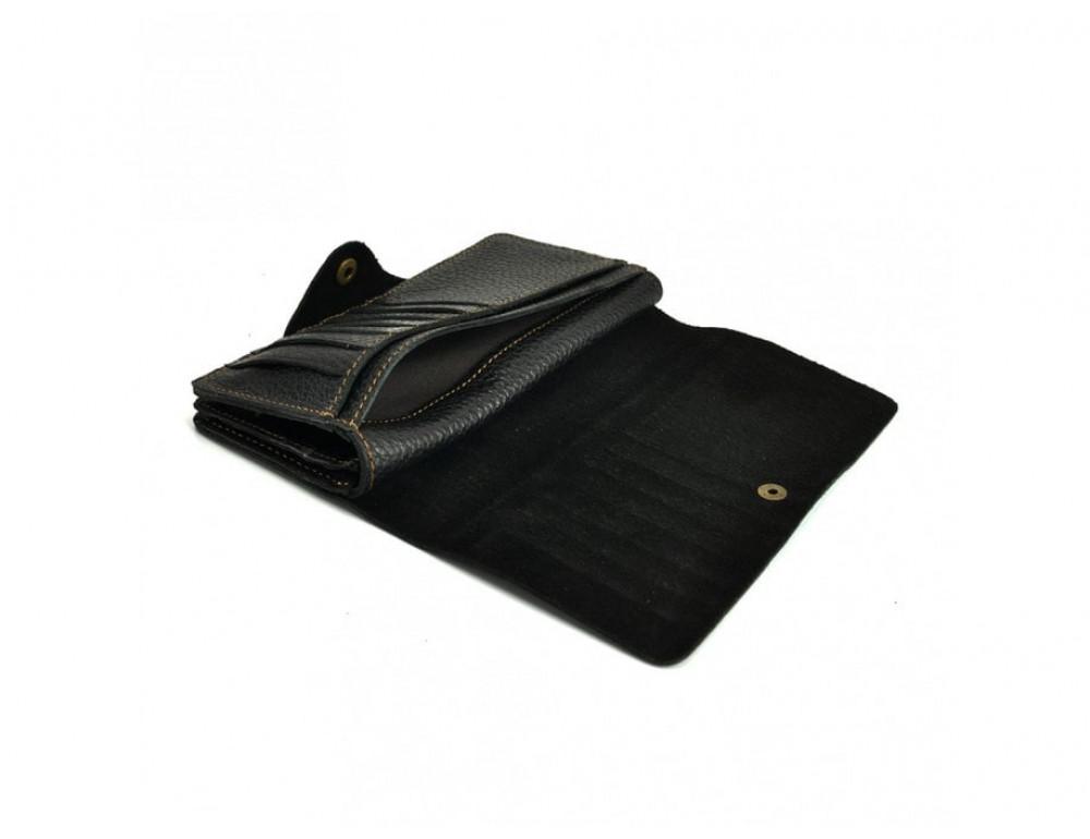 Кожаный портмоне TIDING BAG 8032A Чёрный - Фото № 3