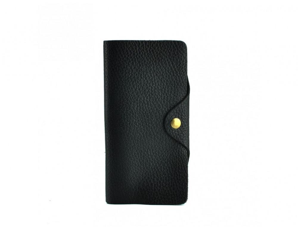 Кожаный портмоне TIDING BAG 8032A Чёрный - Фото № 4