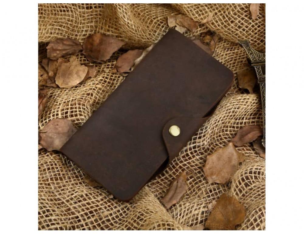 Кожаный портмоне TIDING BAG 8032R коричневый - Фото № 2