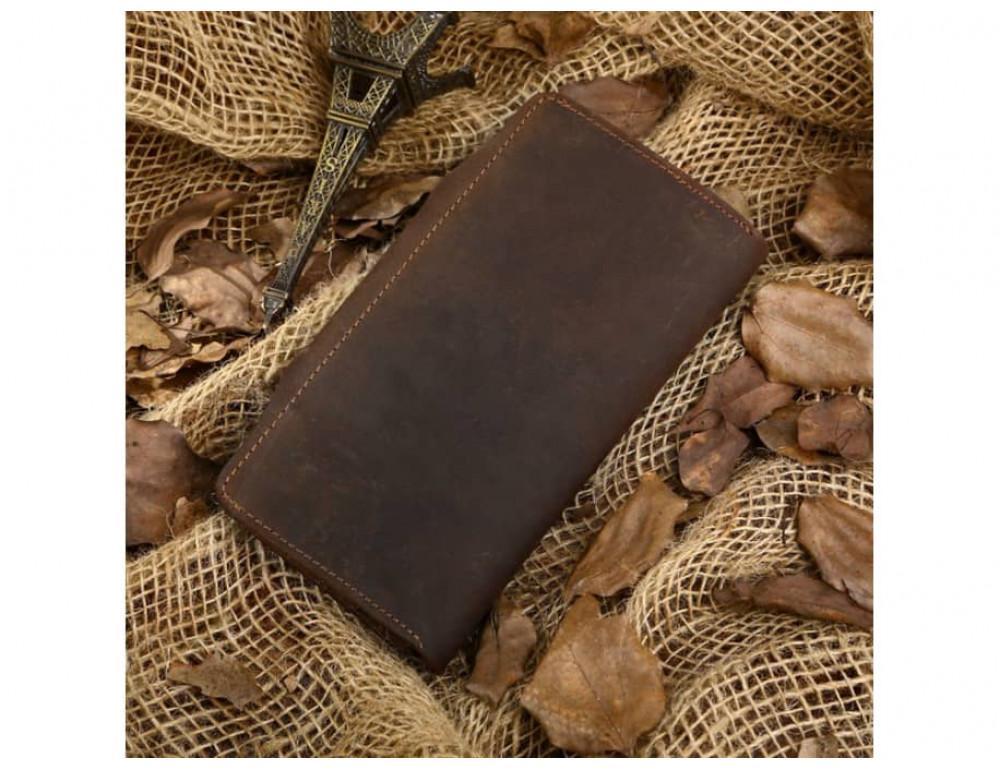 Кожаный портмоне TIDING BAG 8032R коричневый - Фото № 3
