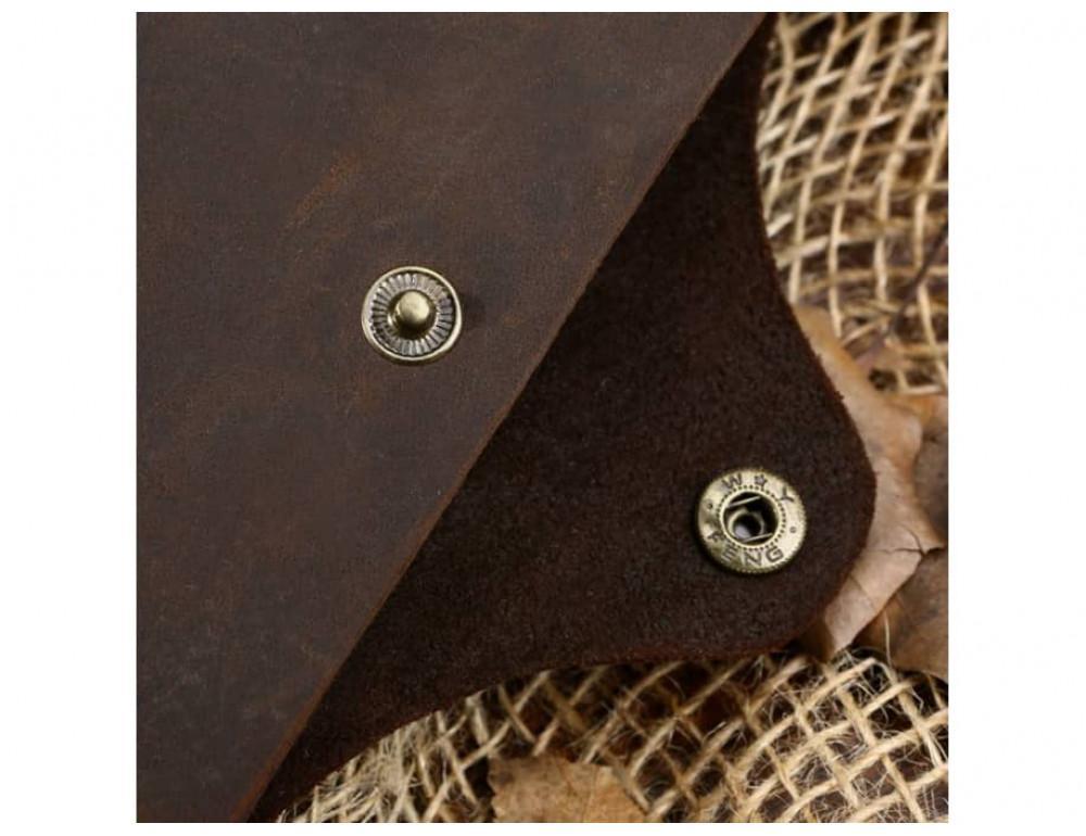 Кожаный портмоне TIDING BAG 8032R коричневый - Фото № 5
