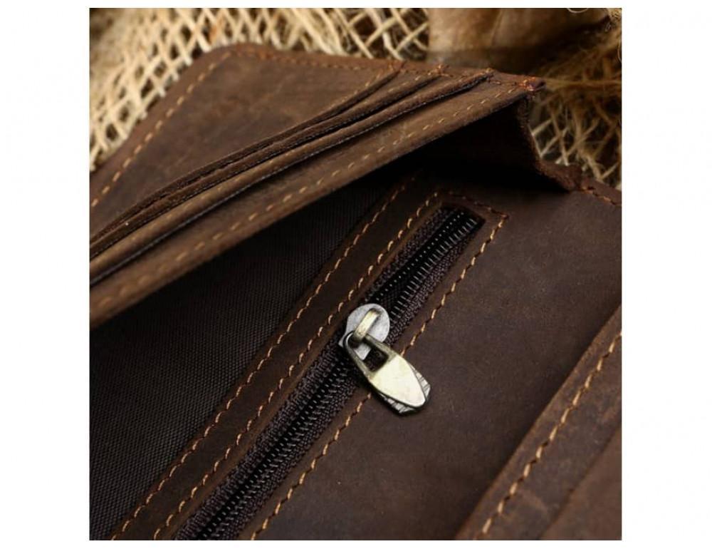 Кожаный портмоне TIDING BAG 8032R коричневый - Фото № 6