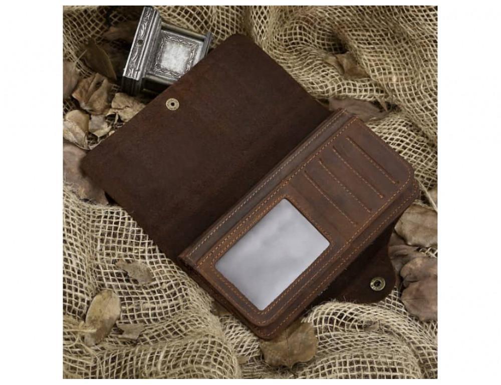 Кожаный портмоне TIDING BAG 8032R коричневый - Фото № 8