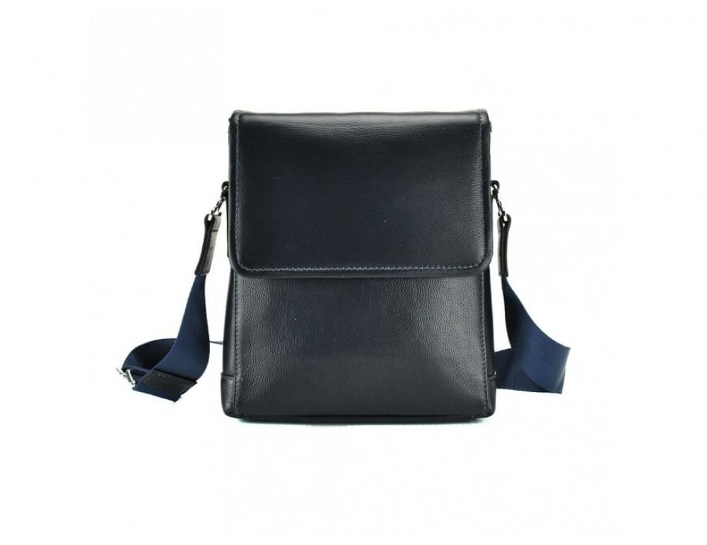 Кожаный мессенджер Tiding Bag M685-1BL синий - Фото № 3