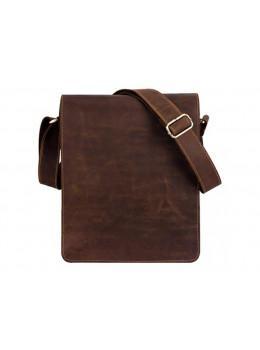 Кожаная сумка планшет А4 Tiding Bag t0034 тёмно-коричневая