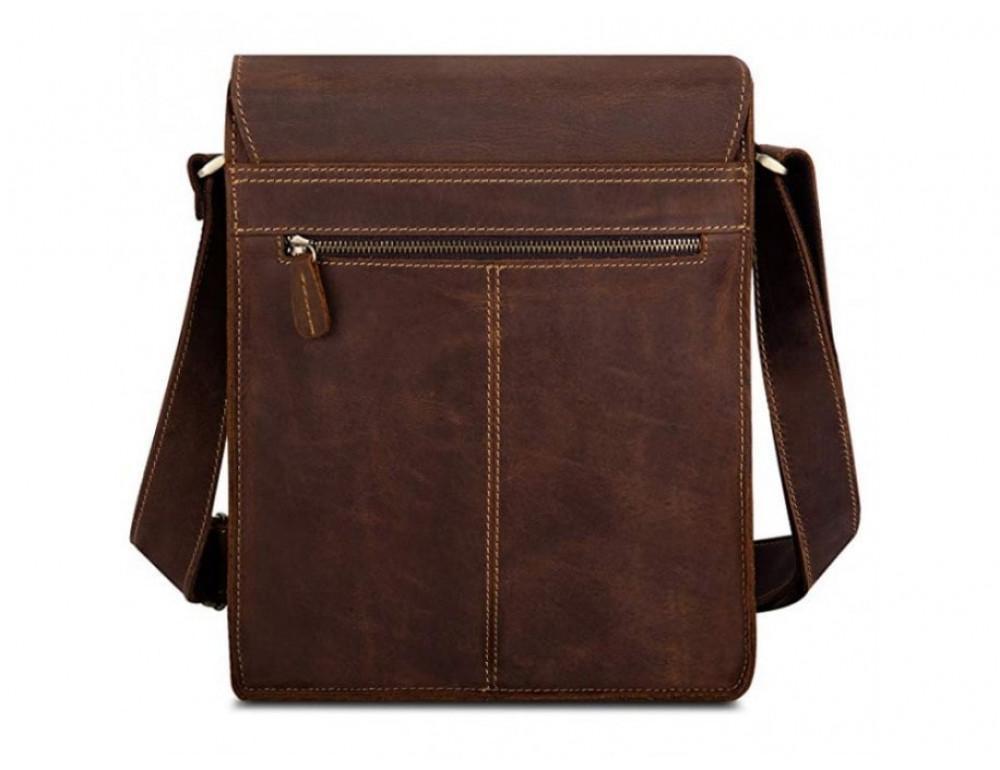 Кожаная сумка планшет А5 Tiding Bag t0034 тёмно-коричневая - Фото № 4