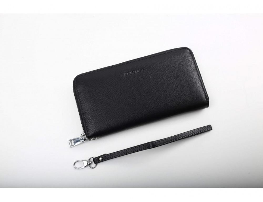 Чёрный кожаный кошелёк Marco Coverna MC7003-1 - Фото № 3