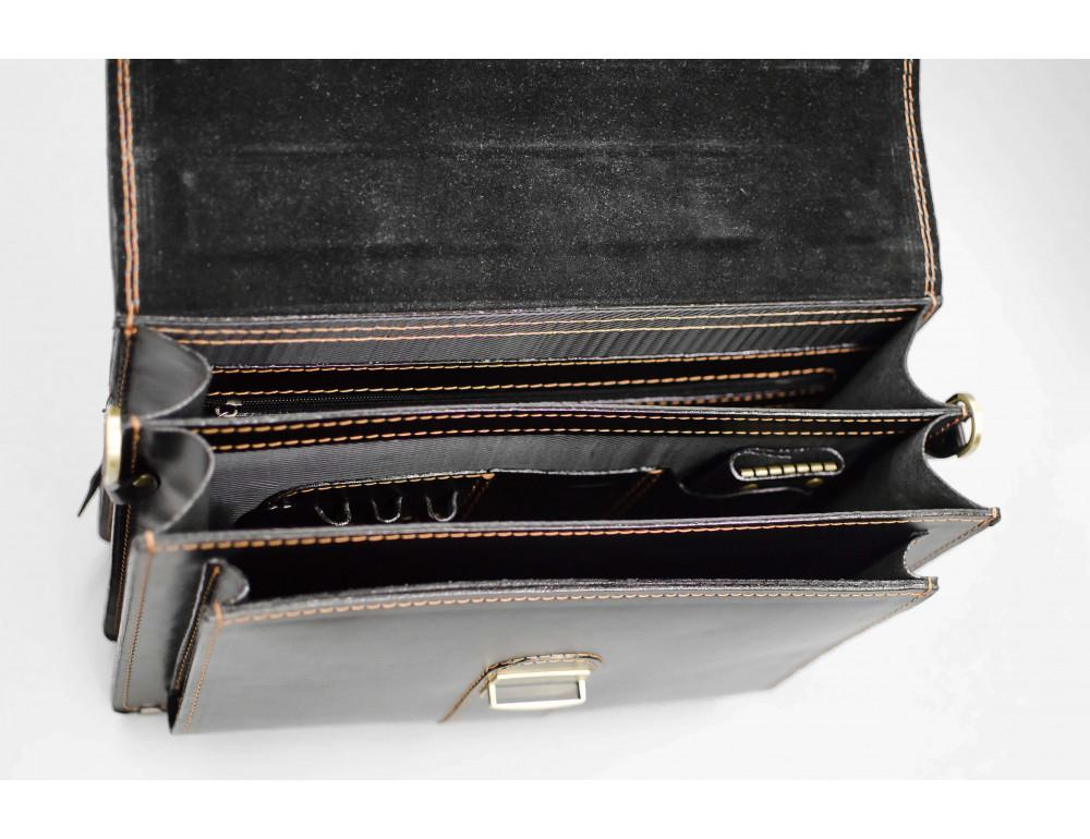 Кожаный мужской портфель премиум качества Manufatto РП-1 AC - Фото № 3