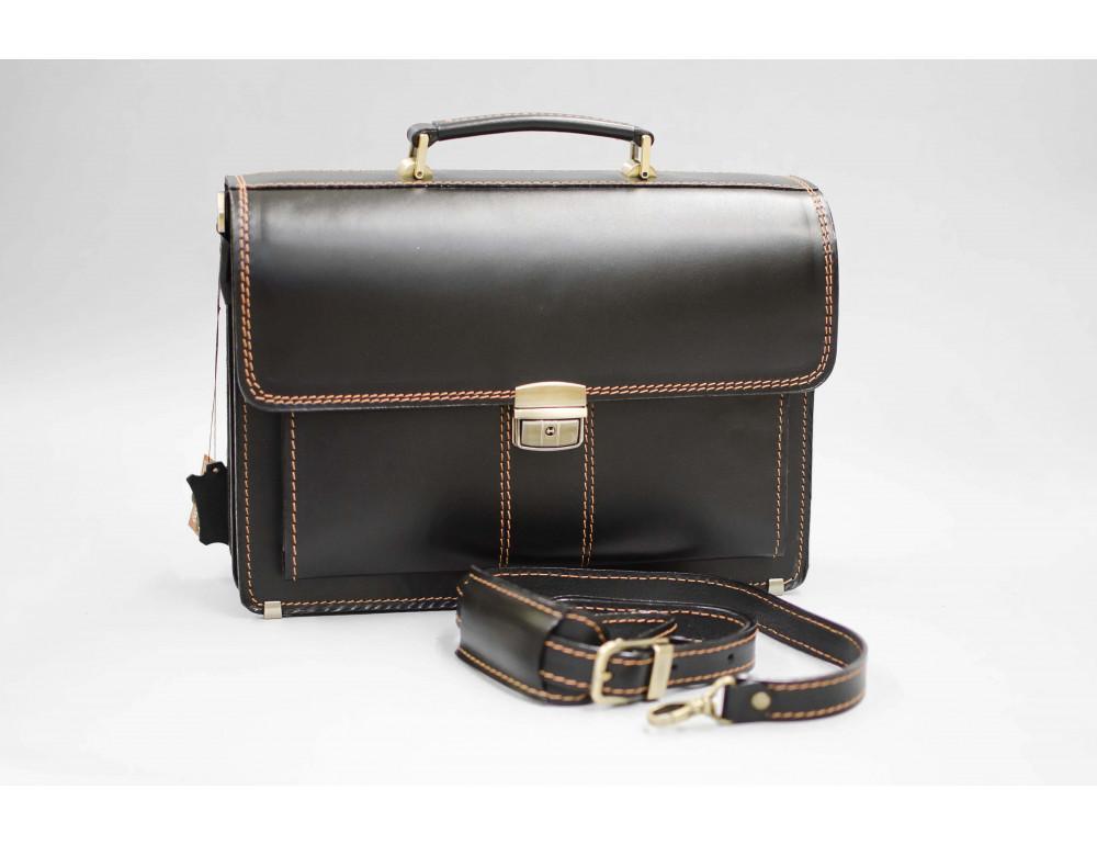 Кожаный мужской портфель премиум качества Manufatto РП-1 AC - Фото № 4