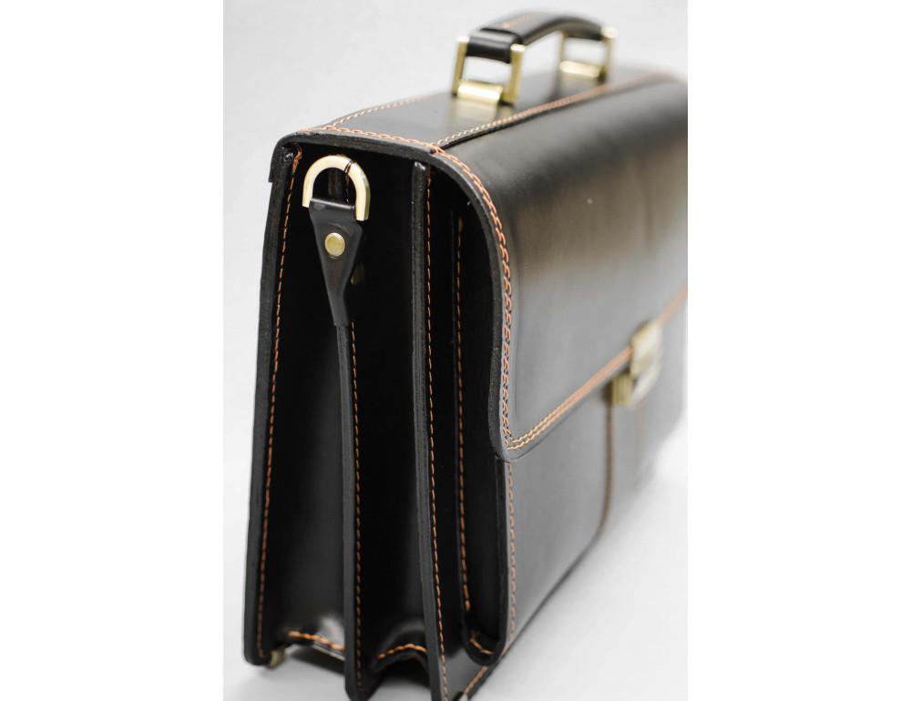 Кожаный мужской портфель премиум качества Manufatto РП-1 AC - Фото № 7