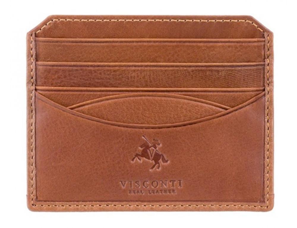 Коричневый картхолдер - кошелёк Visconti DRW25 TAN - Фото № 1