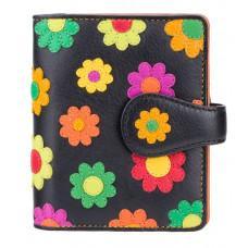 Цветочный кошелек женский Visconti DS80 BLK/PC  Sunshine