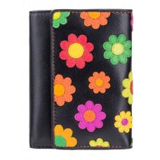 Цветочный кошелек женский Visconti DS81 BLK Paris