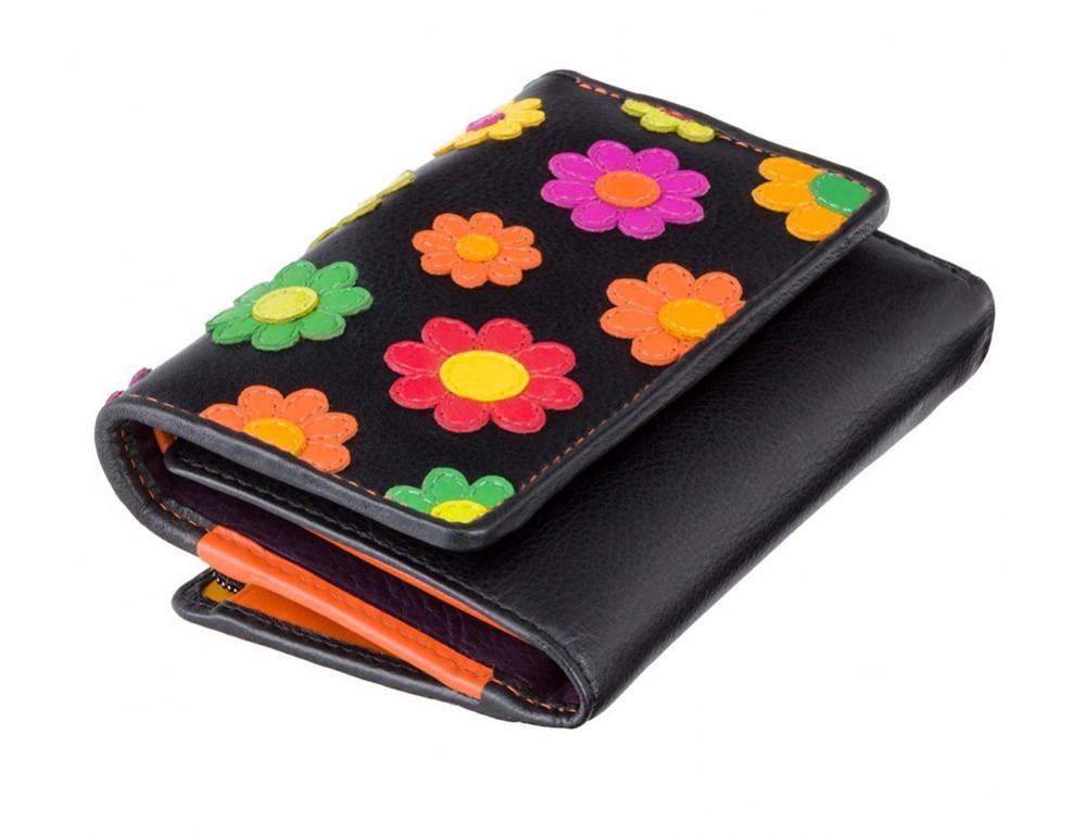 Цветочный кошелек женский Visconti DS81 BLK Paris - Фото № 3