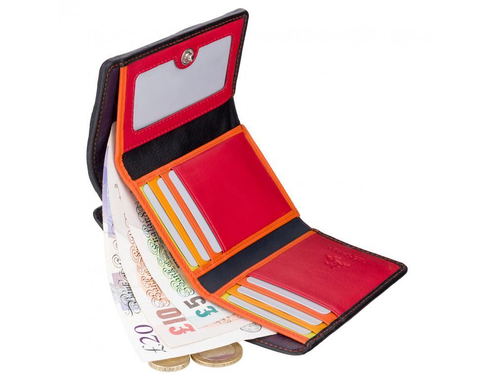 Цветочный кошелек женский Visconti DS81 BLK Paris - Фото № 4