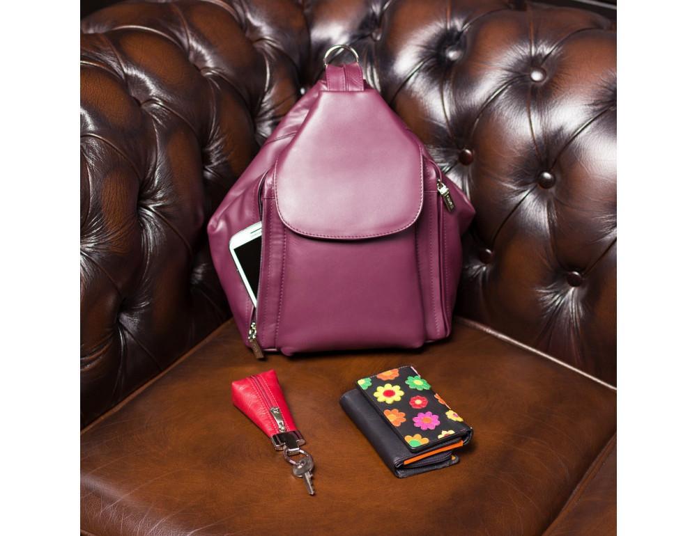 Цветочный кошелек женский Visconti DS81 BLK Paris - Фото № 5