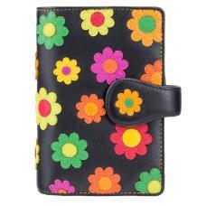 Цветочный кошелек женский Visconti DS82 BLK/PC Spanish