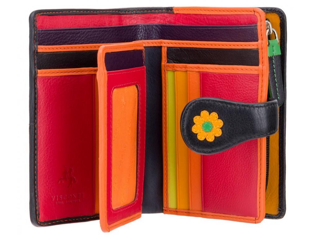 Цветочный кошелек женский Visconti DS82 BLK/PC Spanish - Фото № 2