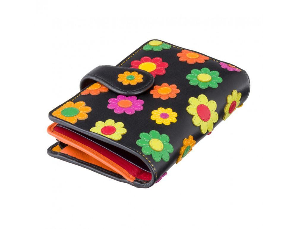 Цветочный кошелек женский Visconti DS82 BLK/PC Spanish - Фото № 3