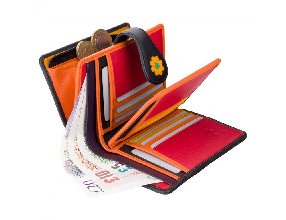 Цветочный кошелек женский Visconti DS82 BLK/PC Spanish - Фото № 4