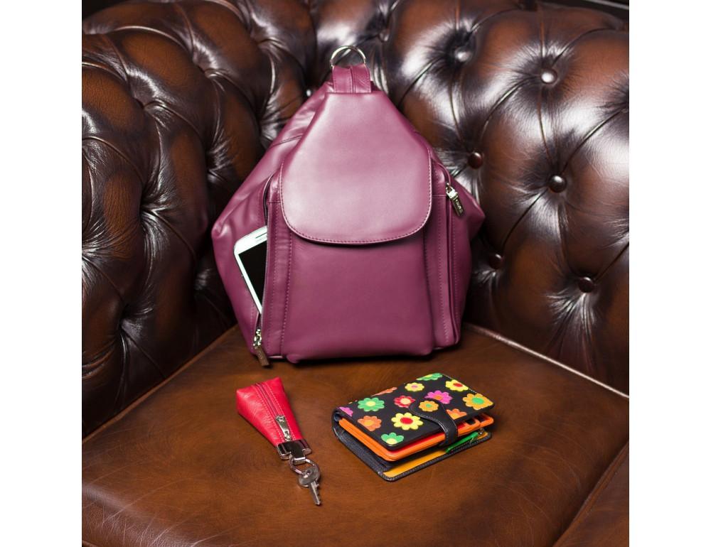 Цветочный кошелек женский Visconti DS82 BLK/PC Spanish - Фото № 5