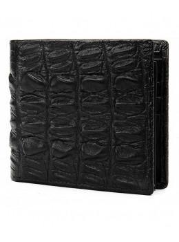 Чёрный кожаный кошелёк под кроко Tidin Bag F11-2A