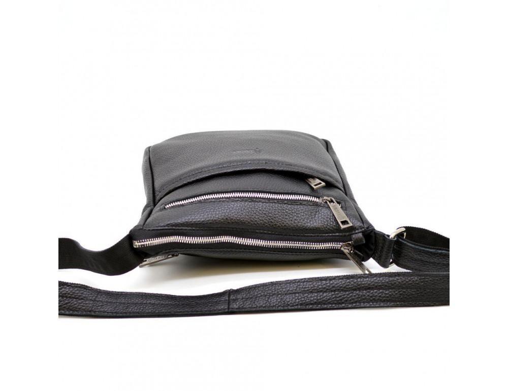 Чёрная кожаная сумка через плечо TARWA FA-1300-3md - Фото № 5
