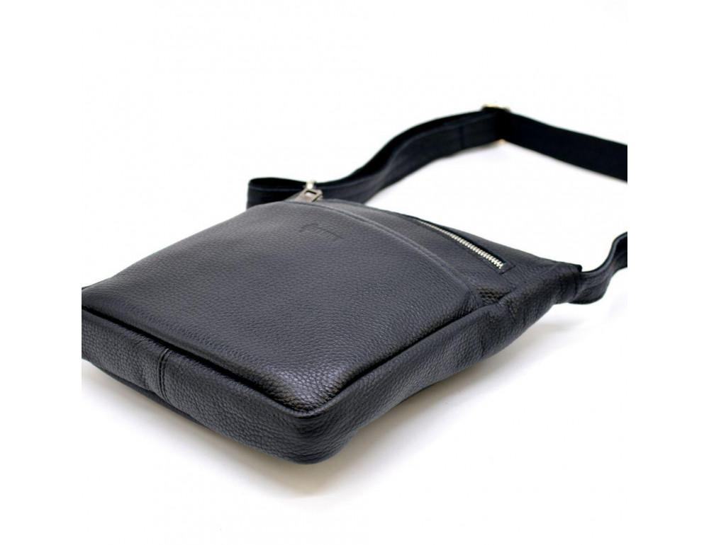 Чёрная кожаная сумка через плечо TARWA FA-1300-3md - Фото № 6