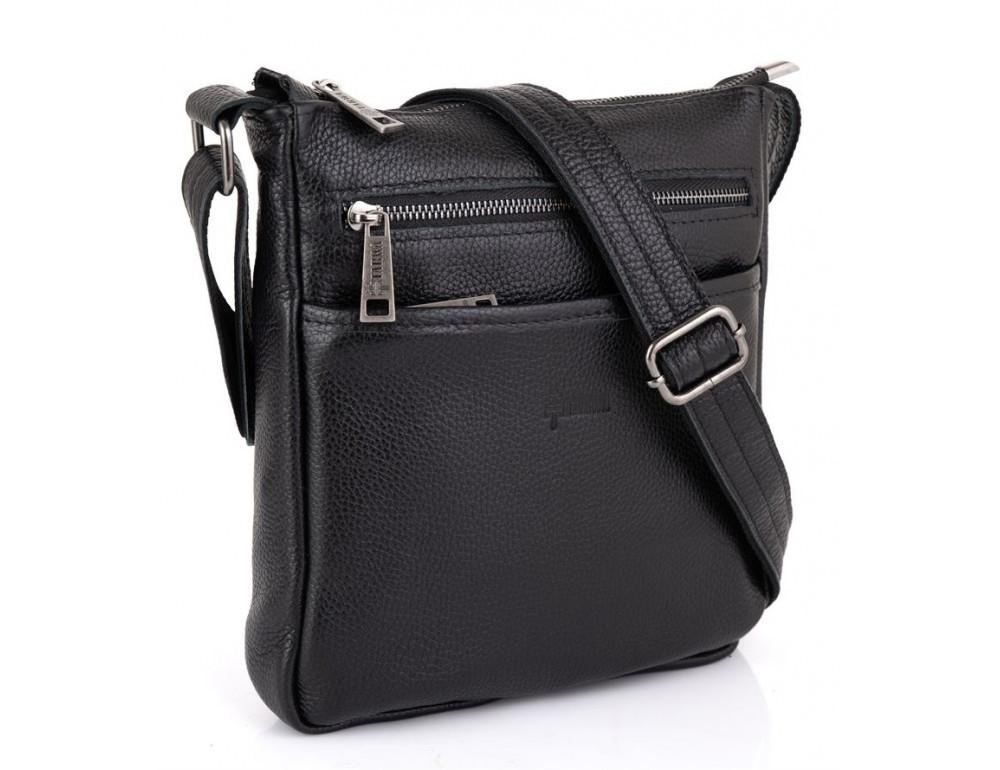 Чёрная кожаная сумка через плечо TARWA FA-1300-3md - Фото № 1