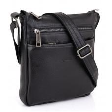 Чёрная кожаная сумка через плечо TARWA FA-1300-3md