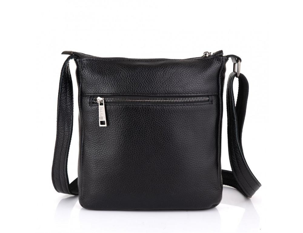 Чёрная кожаная сумка через плечо TARWA FA-1300-3md - Фото № 2