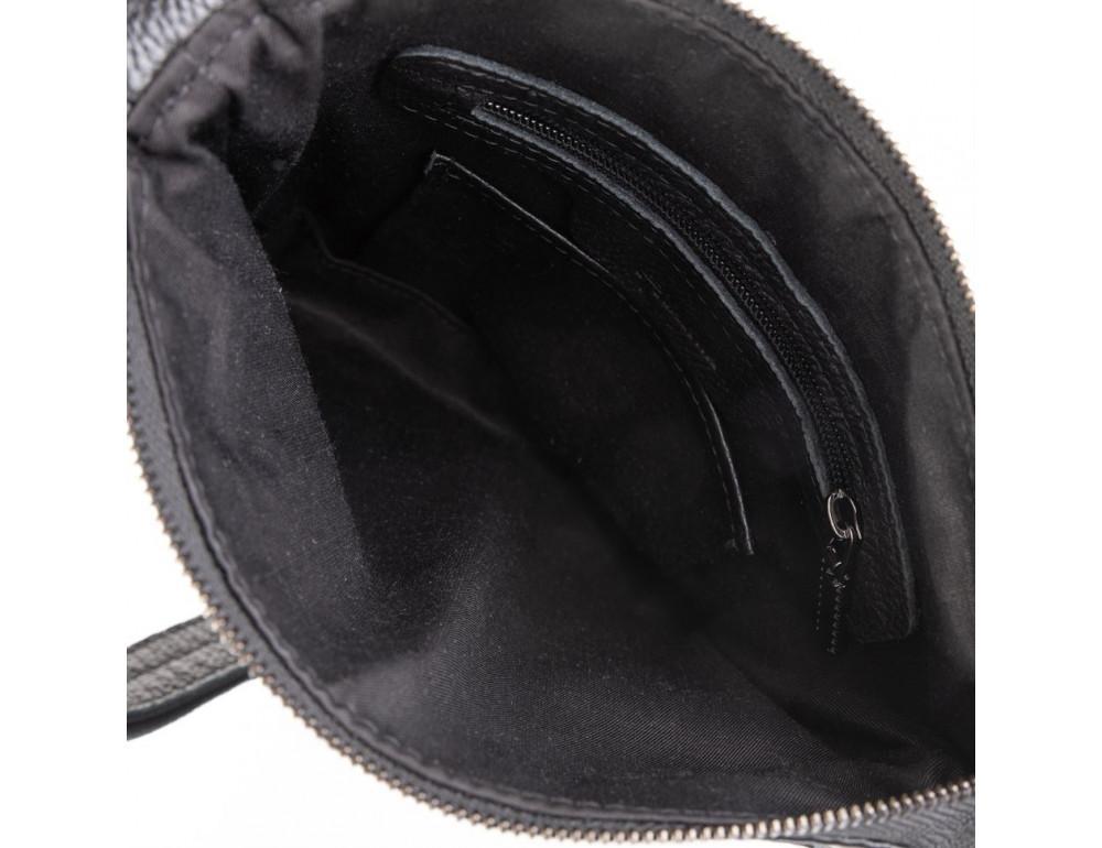 Чёрная кожаная сумка через плечо TARWA FA-1300-3md - Фото № 3
