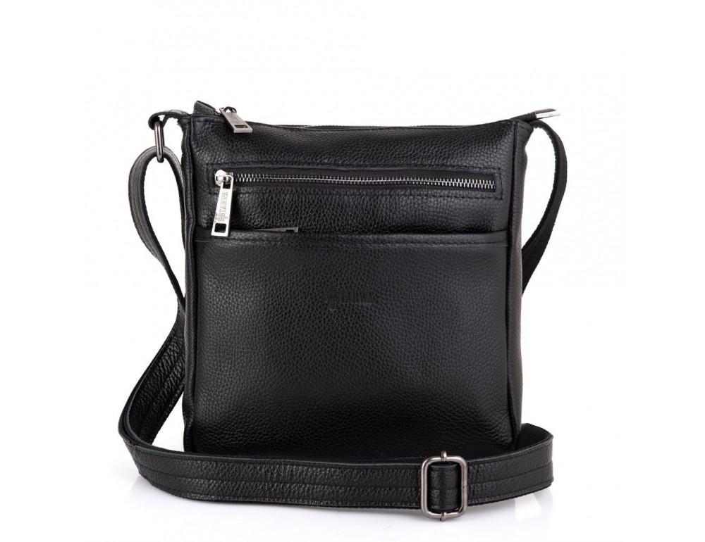 Чёрная кожаная сумка через плечо TARWA FA-1300-3md - Фото № 4