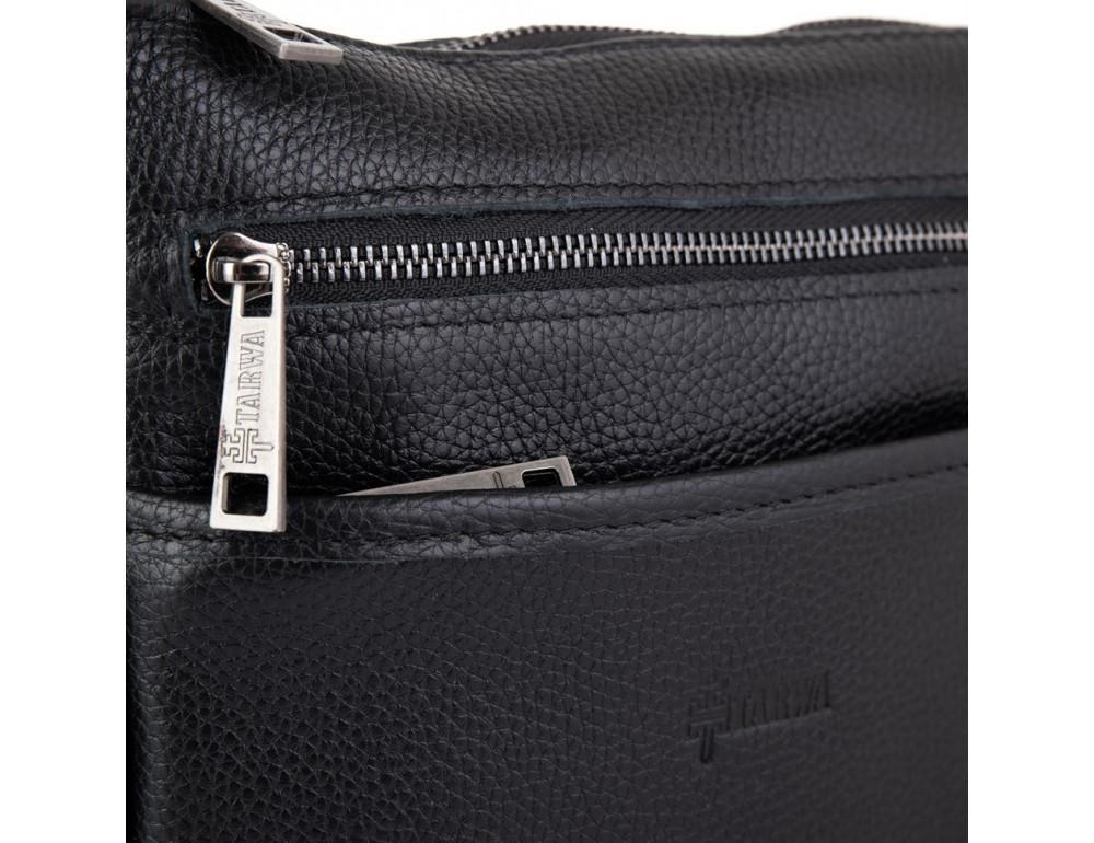 Чёрная кожаная сумка через плечо TARWA FA-1300-3md - Фото № 7