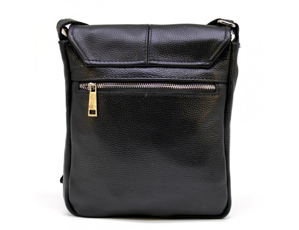 Чёрная кожаная сумка на плечо TARWA FA-1301-3md - Фото № 3