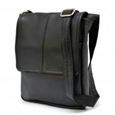 Чорна шкіряна сумка на плече TARWA FA-1301-3md