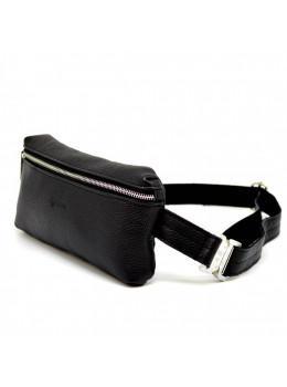 Черная напоясная кожаная сумка TARWA FA-1818-4xl