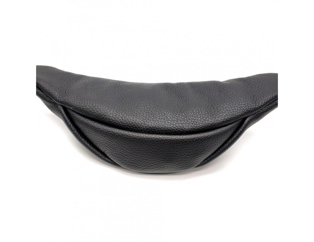 Чёрная кожаная сумка на пояс TARWA FA-3005-4MD - Фото № 6