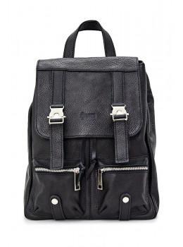 Чёрный женский рюкзак из натуральной кожи TARWA FA-3016-4lx