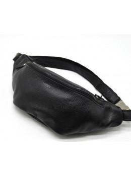 Чорна шкіряна сумка на пояс TARWA FA-3036-3md