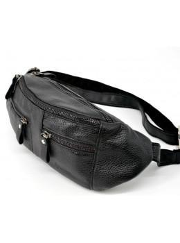 Чорна шкіряна сумка на пояс TARWA FA-3088-3md