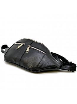 Чорна шкіряна сумка на пояс TARWA FA-3088-4lx