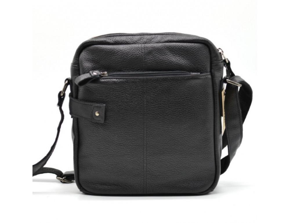 Чёрная кожаная сумка через плечо TARWA FA-6012-3md - Фото № 2