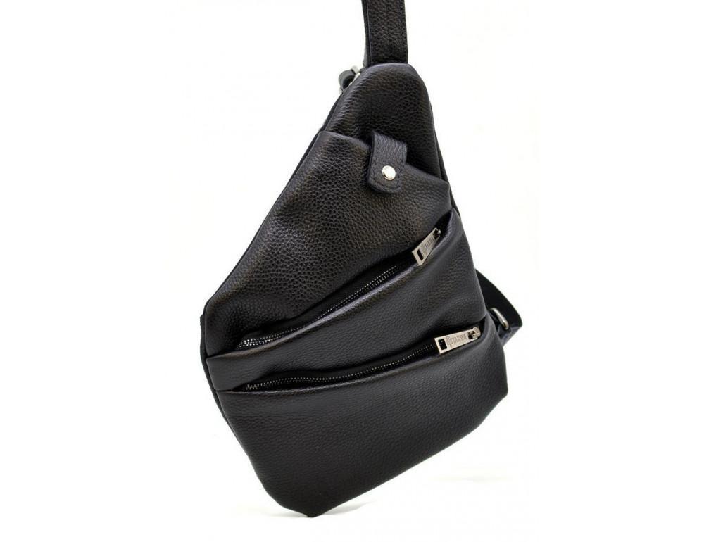 Чёрная сумка на плечо из кожи TARWA FA-6402-3md - Фото № 1