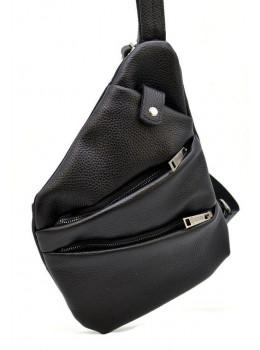 Чорна сумка на плече зі шкіри TARWA FA-6402-3md