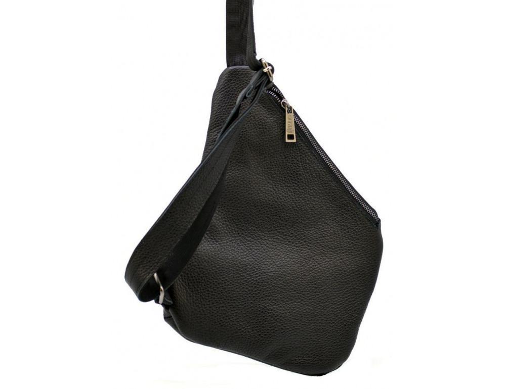 Чёрная сумка на плечо из кожи TARWA FA-6402-3md - Фото № 4