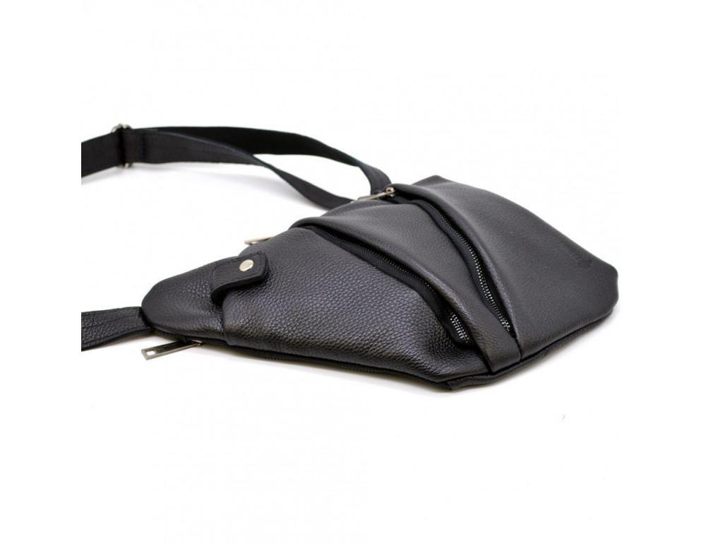 Чёрная сумка на плечо из кожи TARWA FA-6402-3md - Фото № 5