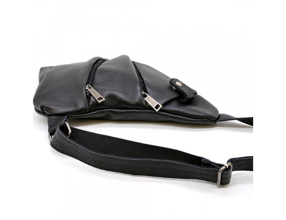 Чёрная сумка на плечо из кожи TARWA FA-6402-3md - Фото № 6